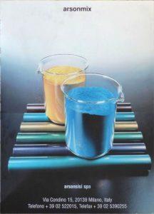 1990 - arsonmix powder coatings advertising poster