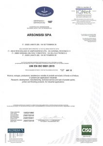 ISO 9001 2015 certification for arsonsisi powder coatings