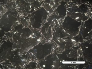 Microscopic observation of coated aluminium foam