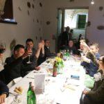 Dinner at the Fratus La Riccafana winery.