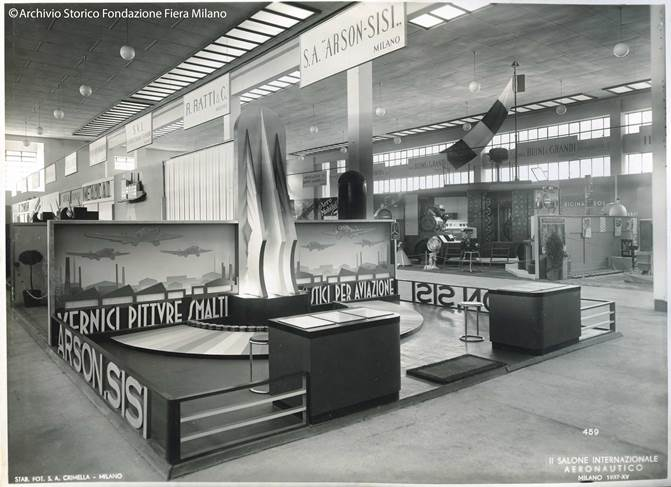 1937 - Arsonsisi stand featuring specialty coatings for civil and military aviation.