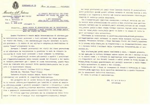 The Circular letter n. 15 issued by the Ministry of the Interior